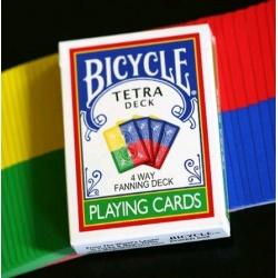 Bicycle Tetra 4 way fanning deck speelkaarten