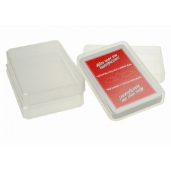 Transparant soft plastic skat doosje