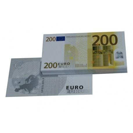 200 Euro biljetten speelgeld (100 biljetten)