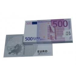 500 Euro biljetten speelgeld (100 biljetten)