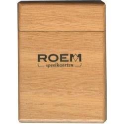 Houten Roem speelkaarten opbergkoker