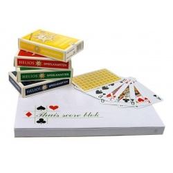 Thuis scoreblok met 4 helios kaarten