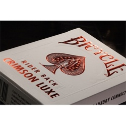 Bicycle® MetalLuxe™ Crimson Luxe Playing Cards