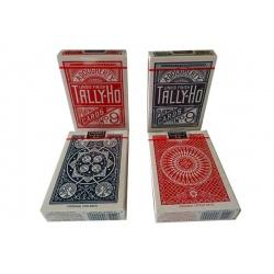 4 pakjes Tally-Ho speelkaarten