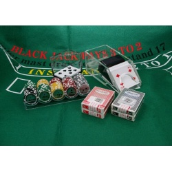 Black Jack pakket met Royal flush chips