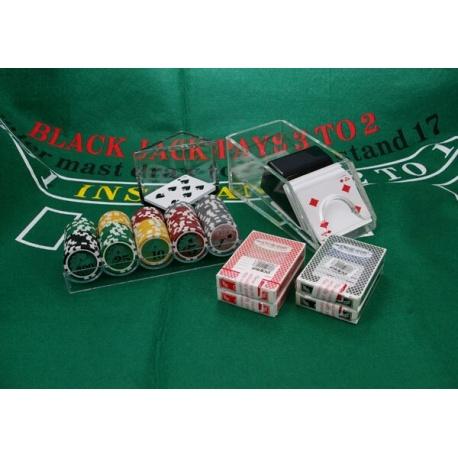 Black Jack pakket met Royal flush chips
