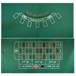 Speellaken Black-Jack / Roulette