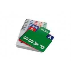 Klein formaat biedkaartjes 100% plastic