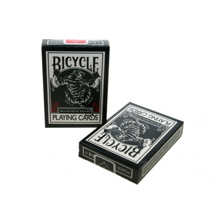 Bicycle Black Tiger (red pips)