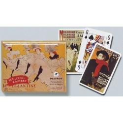 """Piatnik """"Toulouse-Lautrec"""" double deck speelkaarten"""