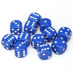 Dobbelsteen set blauw/wit 16mm
