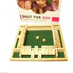 Shut the box dobbelspel 4 personen