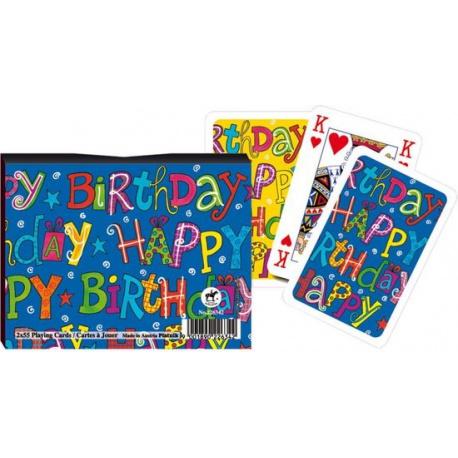 """Piatnik """"happy birthday"""" speelkaartenset"""