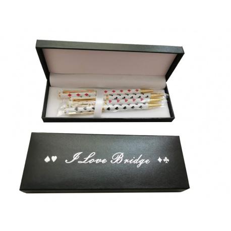 Pennenset (4 stuks) verpakt in luxe doosje