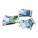 Euro biljetten speelgeld ( verpakking per 100 ex.)